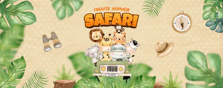 Convite Animado Passeio no Safari